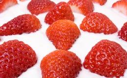 Strawberry Slovak Desert Stock Photos