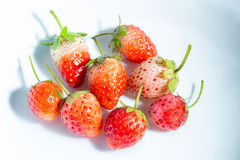 Strawberry in a small clear glass Royalty Free Stock Photography
