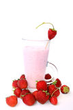 Strawberry smoothie Stock Photography