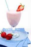 Strawberry smoothie Stock Photo