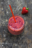 Strawberry smoothie Stock Images