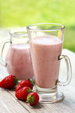 Strawberry smoothie Royalty Free Stock Images