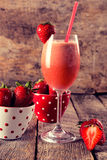 Strawberry smoothie Stock Photos