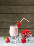 Strawberry smoothie Royalty Free Stock Photography