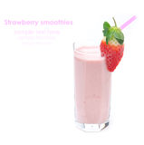 Strawberry smoothie in a glass beaker isolated Royalty Free Stock Photo