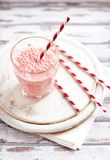 Strawberry Smoothie in a Glass Royalty Free Stock Photo