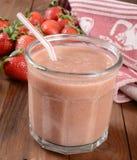 Strawberry smoothie Stock Photos