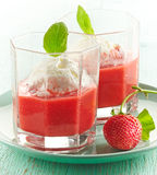 Strawberry smoothie with Ice cream Royalty Free Stock Photography