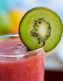 Strawberry Smoothie Indicates Kiwi Fruit And Drink Royalty Free Stock Image