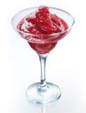 Strawberry smoothie isolated on white. Organic vegan food Royalty Free Stock Image