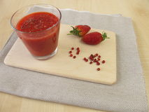 Strawberry smoothie with pink peppercorn Stock Images