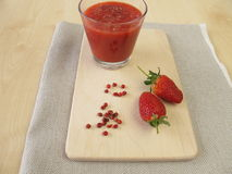 Strawberry smoothie with pink peppercorn Royalty Free Stock Photography