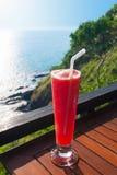 Strawberry smoothie soda Royalty Free Stock Image