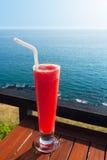 Strawberry smoothie soda Stock Photography