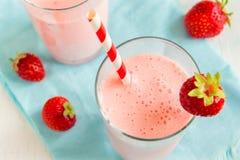 Strawberry smoothie with yogurt Stock Image