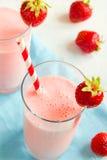 Strawberry smoothie with yogurt Royalty Free Stock Photo