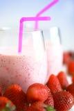 Strawberry smoothies Stock Photo