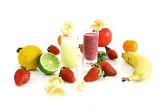 Strawberry smoothies Stock Images