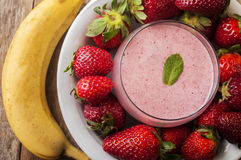 Strawberry smoothies royalty free stock photography