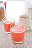Strawberry smoothies Stock Photo