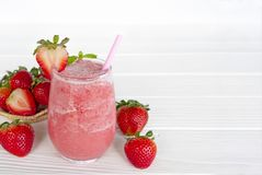 Strawberry smoothies colorful fruit juice beverage. Strawberry smoothies colorful fruit juice beverage healthy the taste yummy In glass drink episode morning on stock photo