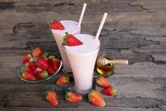 Strawberry smoothies colorful fruit juice milkshake blend beverage healthy . Strawberry smoothies colorful fruit juice milkshake blend beverage healthy high stock photos