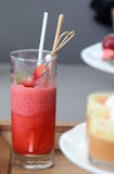 Strawberry smoothies. Stock Image