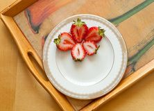 Strawberry Snack Plate Royalty Free Stock Image