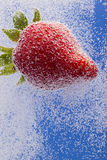 Strawberry In Soda Stock Photos