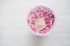 Strawberry soda Royalty Free Stock Photos