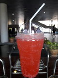 Strawberry Soda Cool. Driking for you Stock Photo
