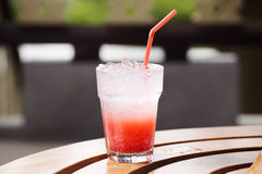Strawberry soda juice cocktail Royalty Free Stock Photos