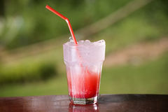 Strawberry soda juice Royalty Free Stock Image