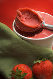 Strawberry sorbet Stock Images