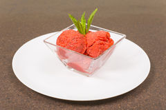 Strawberry sorbet Stock Photos