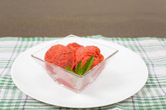 Strawberry sorbet Royalty Free Stock Photos