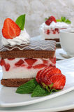Strawberry souffle Stock Photography