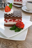 Strawberry souffle Stock Photos