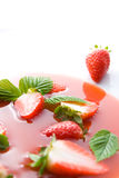 Strawberry soup Stock Images