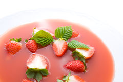 Strawberry soup Stock Photography