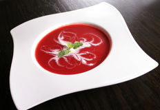 Strawberry soup Royalty Free Stock Photos