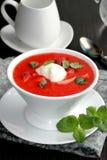 Strawberry soup. Stock Photos