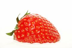 Strawberry in sour cream Stock Photo