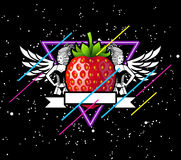 Strawberry In Space Stock Images