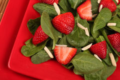 Strawberry Spinach Salad Royalty Free Stock Photography