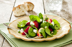 Strawberry spinach salad Stock Photography