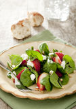 Strawberry spinach salad Royalty Free Stock Photo