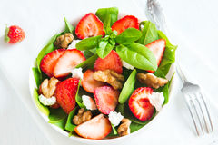 Strawberry and spinach salad Stock Image