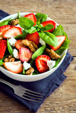 Strawberry and spinach salad Royalty Free Stock Photos