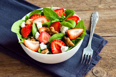 Strawberry and spinach salad Stock Images